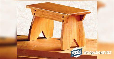 foot stool plans woodarchivist