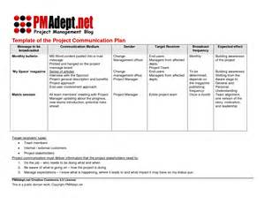communication management plan template best photos of project management plan exle project