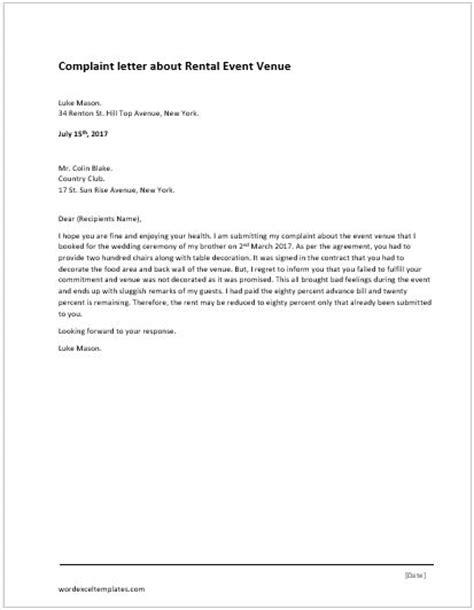 Rent Complaint Letter rent verification letter