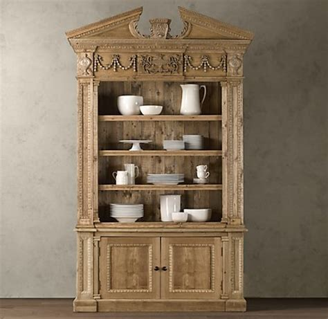 restoration hardware bookcase cabinet classical