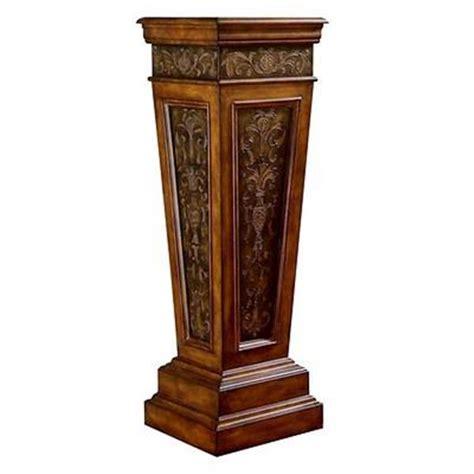Decorative Wood Columns by Wood Metal Column Plant Stand Display Pedestal