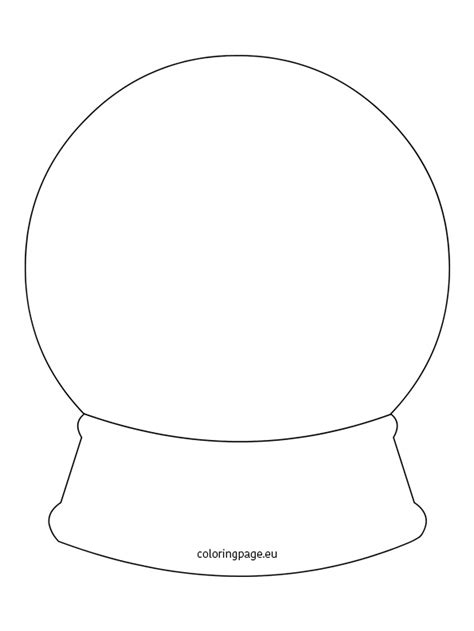 snow globe card template snow globe template coloring page