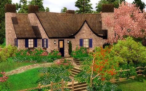 4 Bedroom Housing mod the sims thomas kinkade inspired english cottage