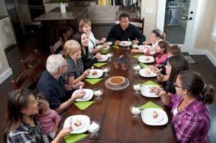 family eating thanksgiving dinner big family eating thanksgiving dinner