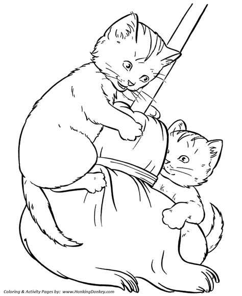 coloring page kittens playing pet cat coloring pages kittens play coloring pages and