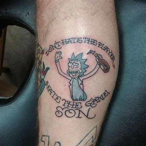 philosophy tattoos 28 awesome rick and morty tattoos from every corner of the