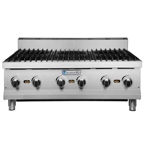 Gas Countertop Range by Eurodib Hp636 36 Quot Six Burner Gas Countertop Range