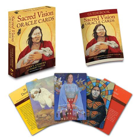 sacred vision oracle cards 1582706492 sacred vision oracle cards by lynn v andrews robert taylor booksamillion com books