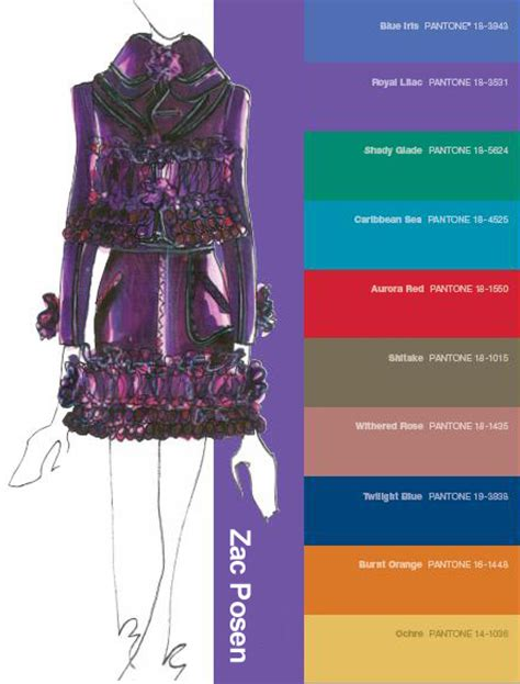 2008 Color Forecast by Toamna 2008 Pantone Fashion Color Trends Style Diary