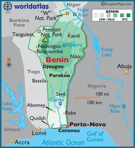 benin on the map k international transport