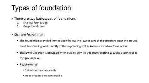 type of foundation foundation