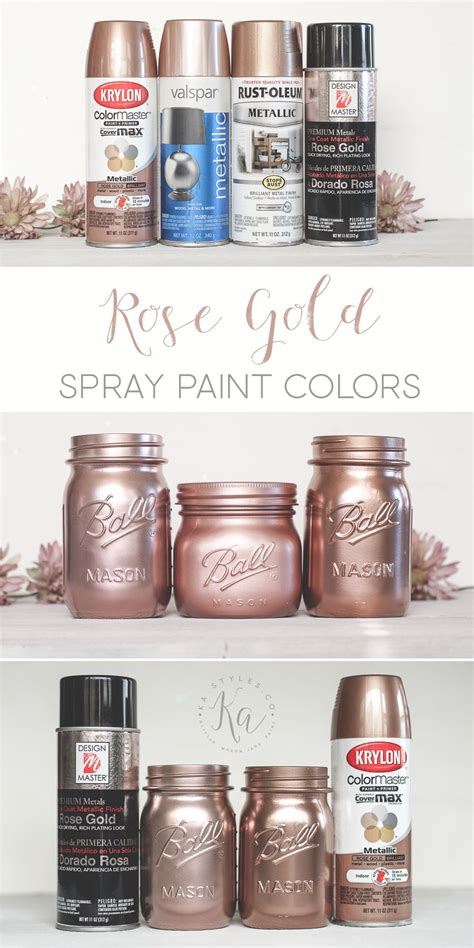 gold spray paint painted jars
