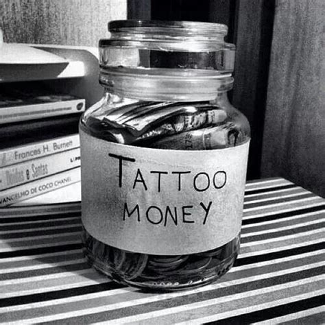 tattoo fund jar money jar gift ideas for