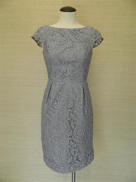 Dress Elsa Grey jcrew elsa dress in leavers lace 12 275 gray bridesmaid ebay