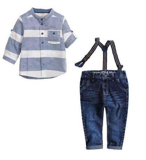 Set 3in1 Denim Etnis Belt children s clothing set high quality boy sling suit clothes roupas de bebe menino