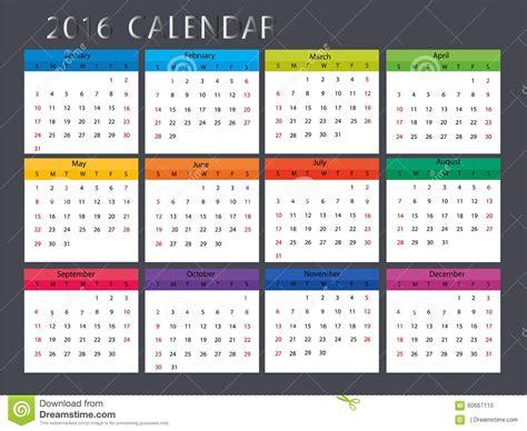 design calendar illustrator cute calendar stock vector image 60667110
