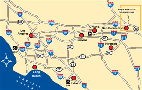map of airports in southern california ontario california map