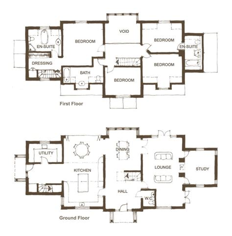 self build floor plans 33 best new self build home designs floor plans plots