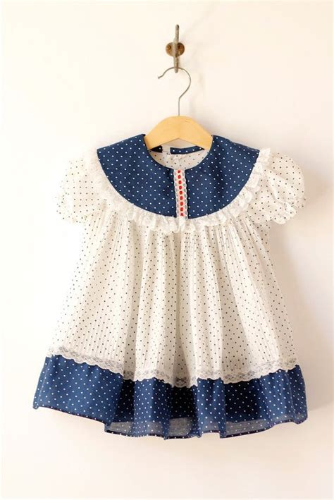 reserved vintage baby blue and white pindot dress