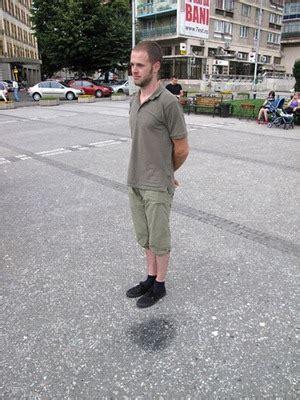 levitate  standing    wet spot