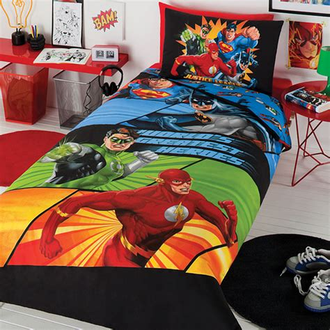 justice league bedding justice league awesome four quilt cover set contemporary
