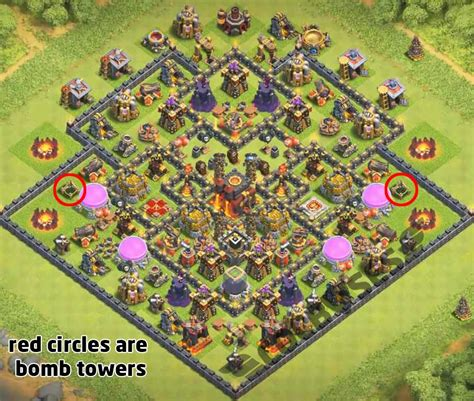 th10 trophy base town hall 10 trophy pushwar base anti golem anti top 12 best th10 trophy base 2018 new update 2 bomb