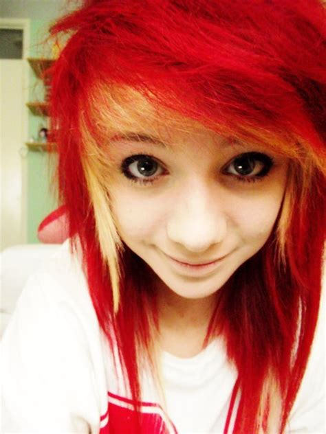 dyed emo hairstyles 1000 images about emo hair