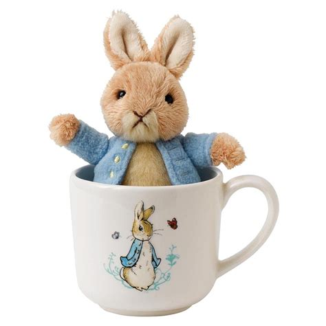 a gift that is soft rabbit and mug gift set beatrix potter fox and lantern