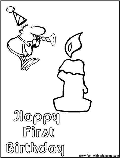 happy 1st birthday coloring pages