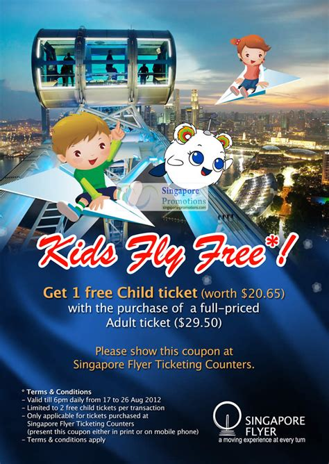 Singapore Flyer E Ticket singapore flyer fly free promotion with every ticket 17 26 aug 2012