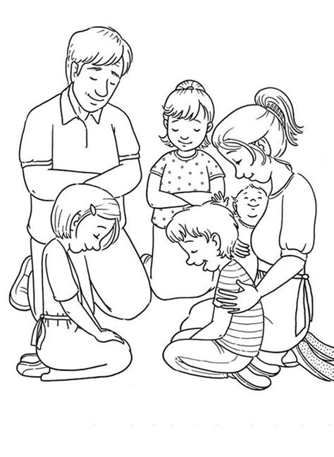 Lords Prayer Family Value Lords Prayer Coloring Page Praying Coloring Pages