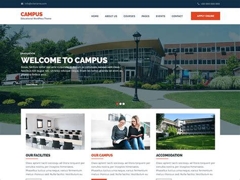 wordpress themes free university 20 best free wordpress themes of 2018 for schools