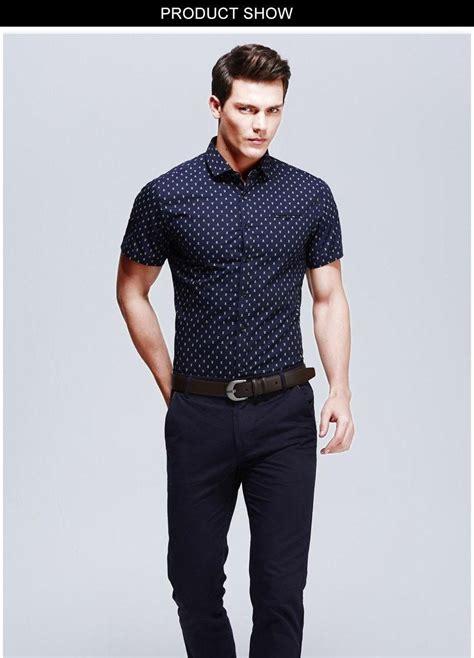 Cs Slim Casual new fashion casual shirt sleeve polka dot slim
