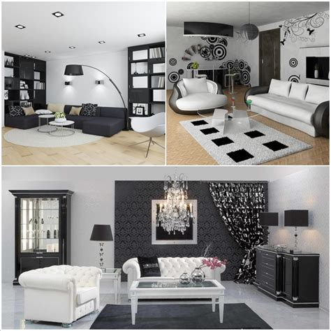 8 Modern Black And White Living Room Designs Amazing | 8 modern black and white living room designs home