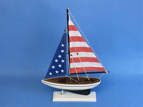 sailboats usa buy wooden usa flag sailer model sailboat decoration 17