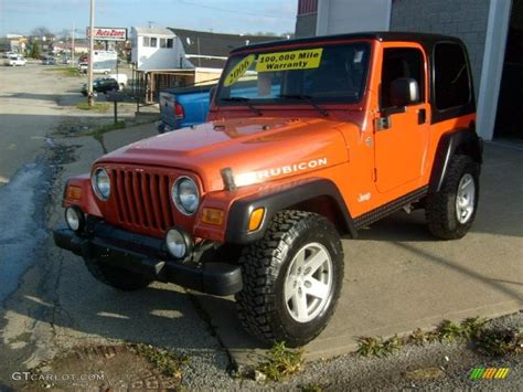 orange jeep rubicon 2006 impact orange jeep wrangler rubicon 4x4 40302422