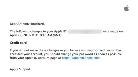 Credit Card Payment Confirmation Letter changing your apple id credit card info directly from your