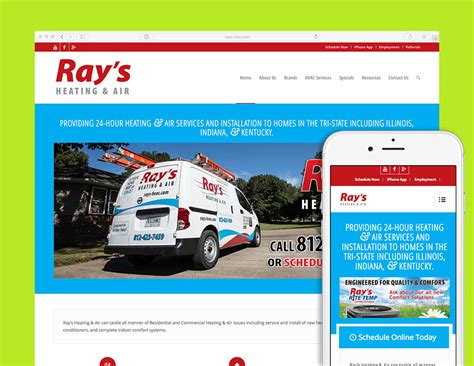 Home Design Evansville In Ray S Heating Amp Air Website Visualrush