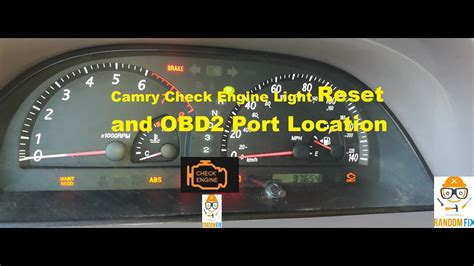 2002 lx check engine light on and reads a p1298 how to reset 2001 2002 2003 2004 2005 2006 toyota camry check engine light and obd2 port youtube