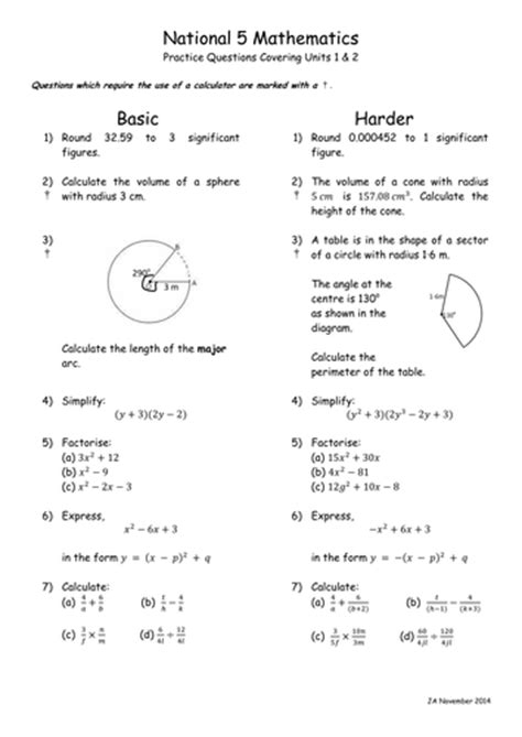 national 5 mathematics practice 0007504713 n5 mathematics unit 1 and 2 questions by jamiea06
