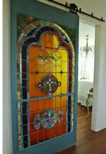 Stained Glass Doors Interior Interior Stained Glass Barn Door Home Interiors