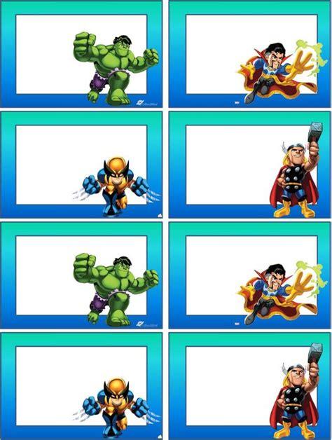 libro hroes de das atrs etiquetas para material escolar para imprimir pesquisa google fiesta super heroes