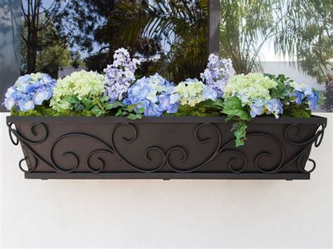 Wrought Iron Railing Planter Box by Best 20 Wrought Iron Window Boxes Ideas On Wrought Iron Buy Windows And Wrought