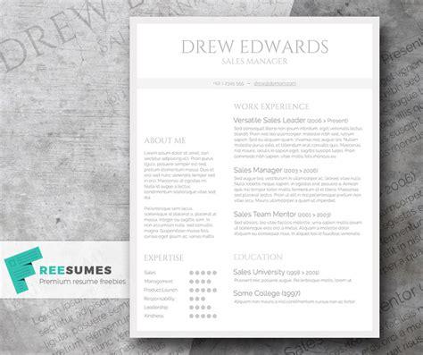 clean resume template free free straightforward resume design basic grey and white