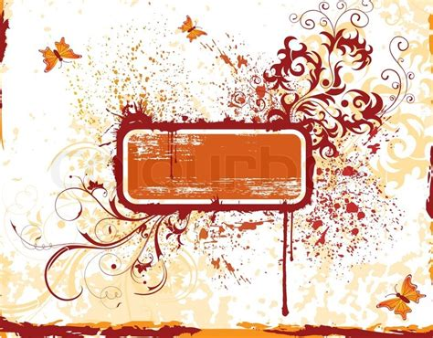 gestell zum malen blume grunge malen rahmen mit schmetterling element f 252 r