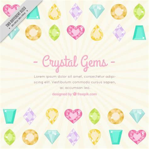 home design free gems かわいい結晶宝石背景テンプレート ベクター画像 無料ダウンロード