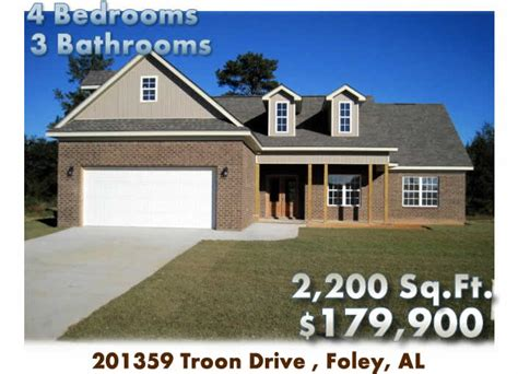 homes for in foley al foley al home for 201359 troon drive foley al 36535