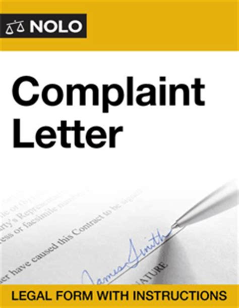 Complaint Letter To Service Tax Department Complaint Letter Form Nolo