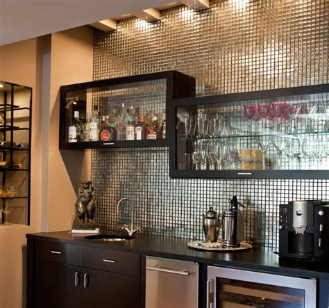 Bar In Family Room Garden Bar And Family Room Interiors By