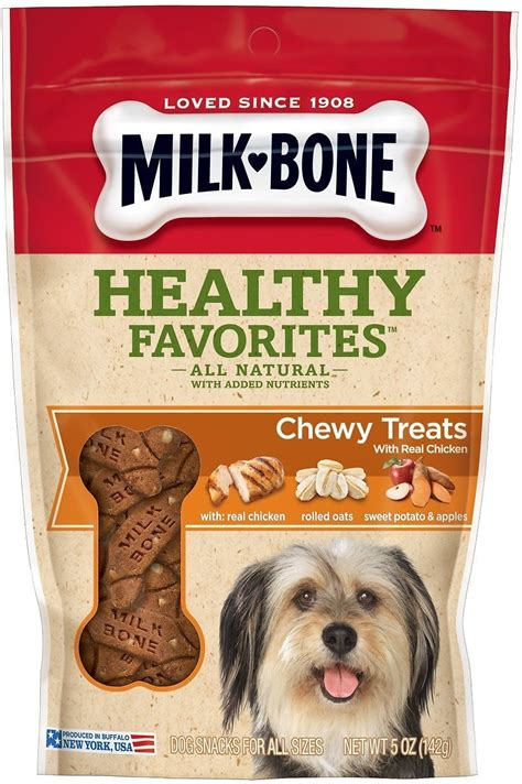 chewy treats milk bone healthy favorites with chicken oats sweet potatoes apples chewy